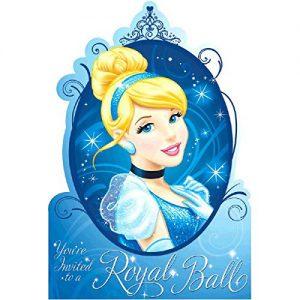 Amscan - Disney Cinderella Sparkle Invitations