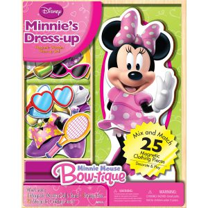 Bendon Disney Minnie Mouse Wooden Magnetic Playset, 25-Piece