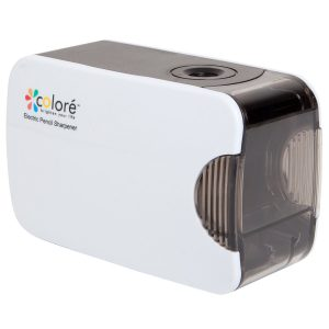 Colore Electric Pencil Sharpener With Auto Safety Lock Function – Battery / USB Powered Professional Sharpener – Great School & Office Supplies For Kids and Adults - FREE 1 Core Sharpener
