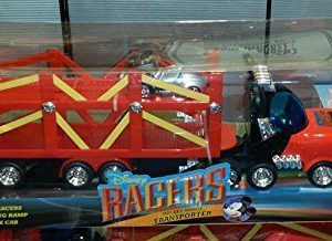 DISNEY MICKEY MOUSE TRUCK - Keep on truckin' with this Disney Racers Mickey Mouse Transporter. With its adjustable loading ramp
