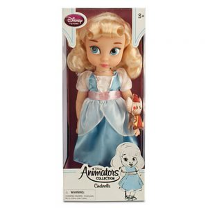 "Disney Animators' Collection Princess Cinderella Toddler Doll - 16"" with Plush Friend Jaq the Mouse"