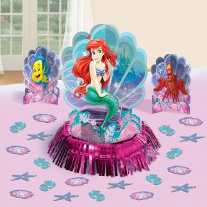 Disney Ariel Little Mermaid Birthday Party Table Decorating Kit (23 Pack), Multi Color.