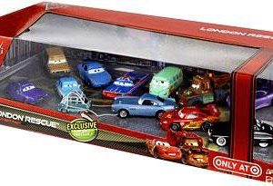 Disney Cars 2 London Rescue with Captured Professor Z - 12 Car Gift Pack