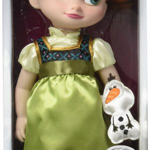 Disney Exclusive Animator's Collection Frozen Anna Toddler Doll Holding Olaf 2015 Edition