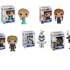 Disney Frozen Pop Vinyl Figure Elsa, Anna, Glitter Olaf, Sven & Kristoff Bundle