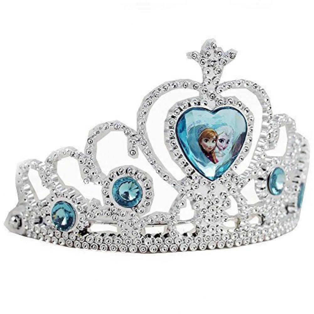 Blue Gem Princess Silver Crown Tiara Barbie Doll Cinderella Disney Heart