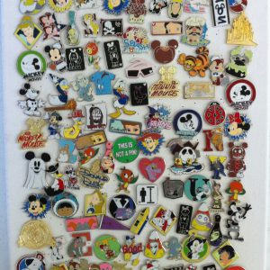Disney Hidden Mickey Cast Lanyard Collector Badge Pin LOT of 25 Pins NO DOUBLES