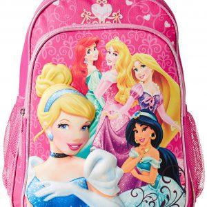 Disney Little Girls' Princess 3D Eva Molded Backpack, Pink, 16x12x5