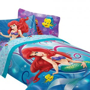 Disney Little Mermaid Shimmer and Gleam Sheet Set Twin