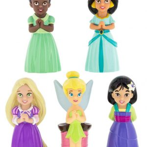 Disney Parks Princess and Fairy Squeeze Toy Set Rapunzel Mulan Jasmine Tiana Tinkerbell