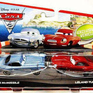 Disney / Pixar CARS 2 Movie 155 Die Cast Car 2Pack Finn McMissile & Leland Turbo
