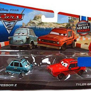 Disney / Pixar CARS 2 Movie Exclusive 155 Die Cast Car 2Pack Professor Z Tyler Gremlin Maters Secret Mission