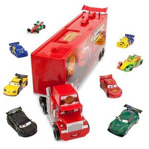 Disney / Pixar CARS Movie 10-Piece Playset Exclusive 1:48 Mack Die Cast Carrier Ultimate Gift Set