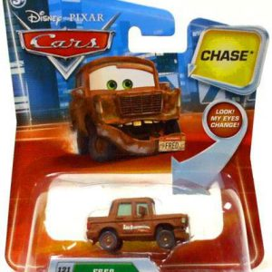 Disney / Pixar CARS Movie 155 Die Cast Car with Lenticular Eyes Series 2 Fred with Fallen Bumper Chase Piece!