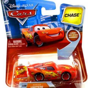 Disney / Pixar CARS Movie 155 Die Cast Car with Lenticular Eyes Series 2 RustEze Lightning McQueen Chase Piece!