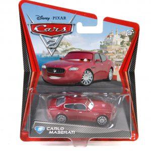 Disney Pixar Cars 2 Movie Series Mattel 1:55 Scale Die Cast Car Carlo Maserati