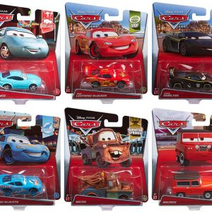 Disney Pixar Cars Bundle of 10 Die Cast Cars 1:55 Scale with Sheriff