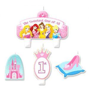 Disney Princess 1st Birthday Molded Cake Candle Set
