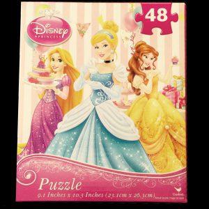 Disney Princess, 48 Piece Puzzle, Rapunzel, Cinderella, Belle at Birthday Party