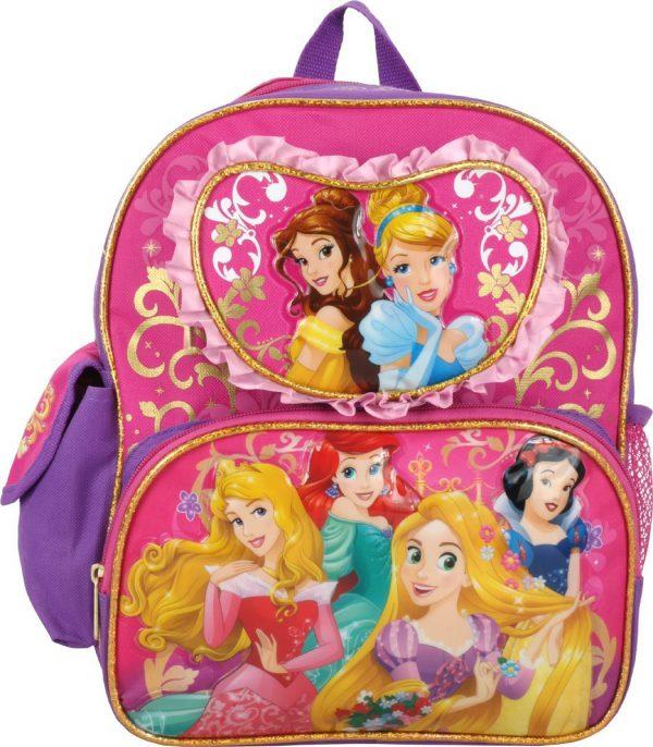 """Disney Princess Cinderella Rapunzel Ariel 12"""" Toddler Backpack"""