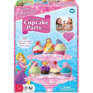 Disney Princess Enchanted Cupcake Party Game For Girls & Boys Age 3 & Up - A Fun & Fast Matching Party Game You Can Play Over & Over