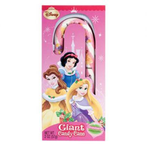 Disney Princess Giant Strawberry-Flavored Candy Cane - Featuring Belle, Snow White & Rapunzel