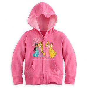 Disney Princess Girls Zip Hoodie Jacket