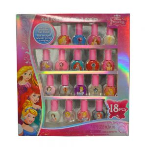Disney Princess Nail Polish Set Popular 18 Pcs Non-toxic in Window Box