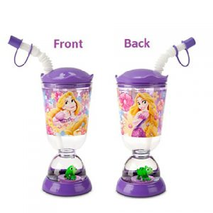 Disney Princess Rapunzel Snowglobe Tumbler with Straw Fun Floats Sipper Tumbler Drinking Bottle