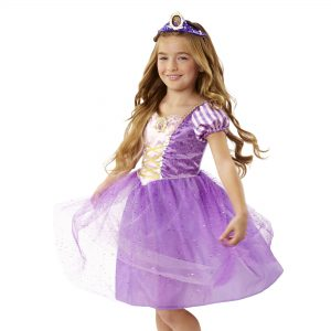 Disney Princess Rapunzel Sparkle Dress with Attached Cameo Size 4 - 6X