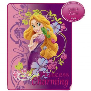 "Disney Princess Rapunzel Tangled Micro Raschel Blanket Throw ""PRINCESS Charming"""