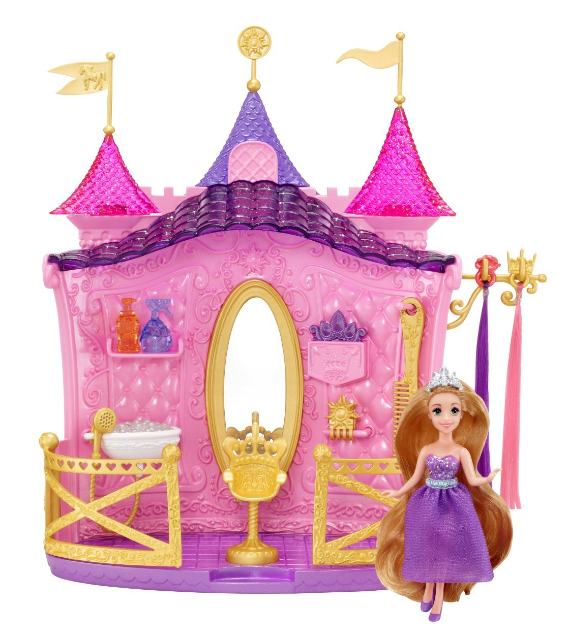 Disney Princess Shimmer Style Salon Playset With Mini Rapunzel Doll