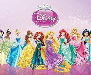 Disney Princess Snow White Cinderella Aurora Ariel Belle Jasmine Pocahontas Mulan Tiana Rapunzel Merida Edible Image Photo 1/4 Quarter Sheet Cake Topper Personalized Custom Customized Birthday Party