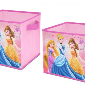 Disney  Princess Storage Cubes, Set of 2, 10-Inch