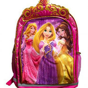 Disney Princesses Backpack with Gold Crown and Pink Jewels