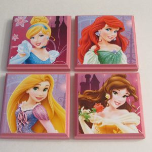 Disney Princesses Room Wall Plaques Set Of 4 Princess Girls Room Decor Cinderella Rapunzel Belle Ariel The Little Mermaid Toysplus