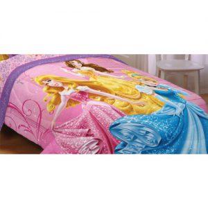 "Disney Princesses Sparkling Elegance Reversible 72"" x 86"" Comforter Twin/Full"