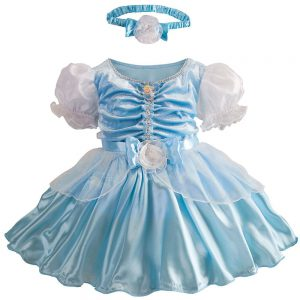 Disney Store Deluxe Cinderella Costume for Baby Toddler 2T 2 Years