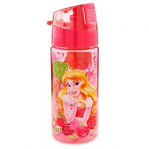 Disney Store Princess Aurora Sleeping Beauty Plastic Drink Water Bottle