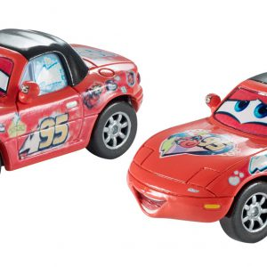 "Disney/Pixar Cars, 2015 Race Fans Die-Cast Vehicles, ""Superfan"" Mia and ""Superfan"" Tia #7/9 and 8/9, 1:55 Scale"