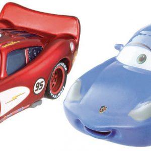 Disney/Pixar Cars Radiator Springs Sally and Radiator Springs Lightning McQueen Die-Cast Vehicles.