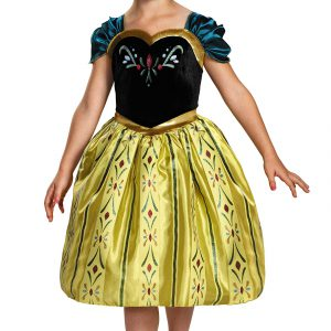 Disneys Frozen Anna Coronation Gown Classic Girls Costume, Small/4-6x