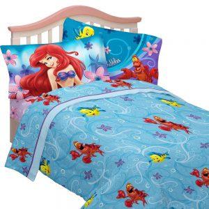 Disneys Little Mermaid Cascading Flowers Twin Sheet Set