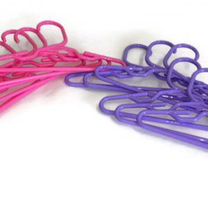 Doll Hangers Set of (12) 6 Lavender Plastic and 6 Pink Fits 18 American Girl Doll Clothes, Doll Accessories