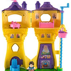 Fisher-Price Little People Disney Princess Rapunzel's Flynn Figure Musical Tower