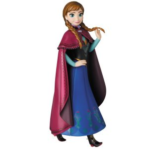 Japan Disney Official Vinyl Collectible Dolls Anna Frozen Complete Scale Figure Character Model No 252 VCD Medicom Toy