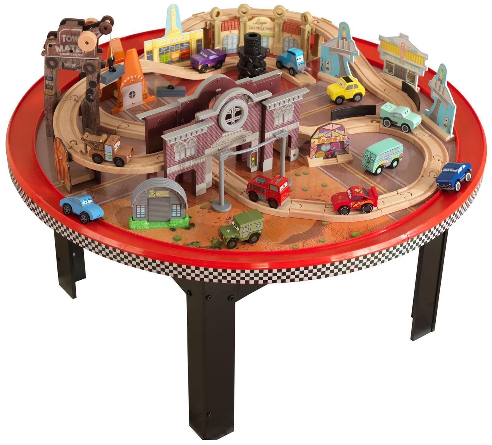 Kidkraft Disney Cars Cadillac Range Train Set And Table Toysplus