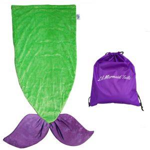 Lil Mermaid Tails Mermaid Tail Blanket, Purple