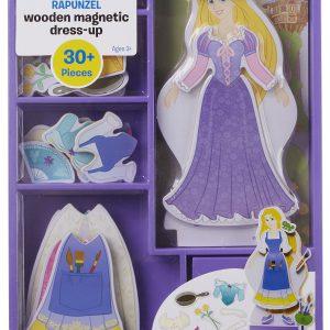Melissa & Doug Disney Rapunzel Magnetic Dress-Up Wooden Doll Pretend Play Set (30+ pcs)