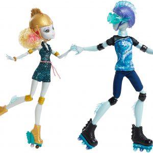 Monster High Lagoona Blue and Gil Weber Wheel Love, Doll 2-Pack